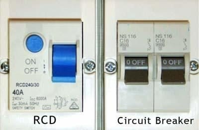 RCD vs Circuit Breaker